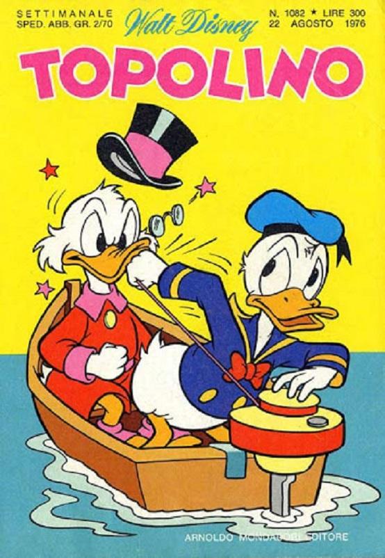 Fumetti, Paperino con l'arci ricco e taccagno Zio Paperone.
