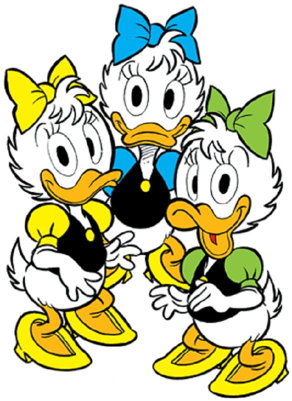 Fumetti, Emy Ely ed Evy, le nipoti di Paperina.