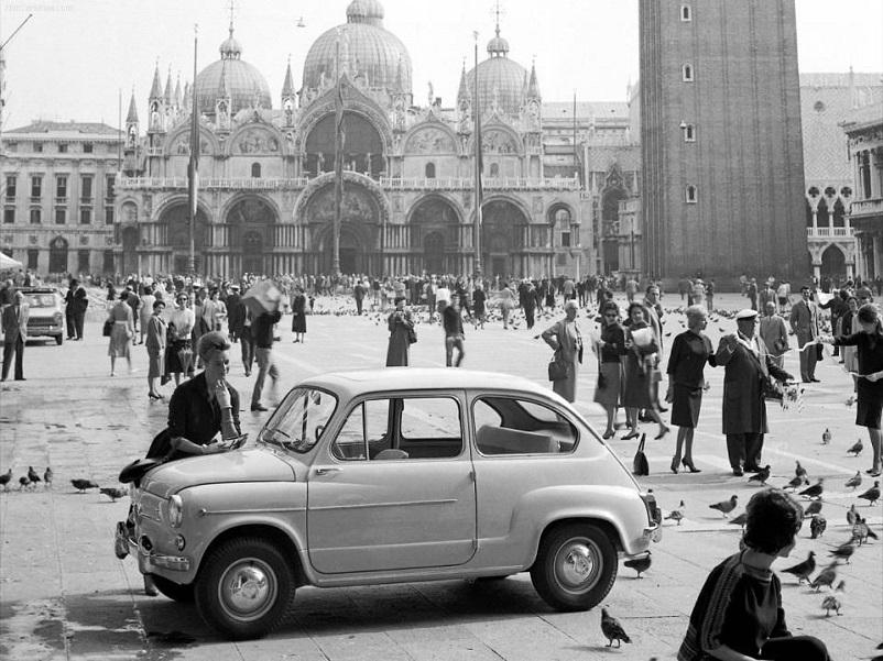 Foto in bianco e nero Piazza San Marco a Venezia vintage FOTO DUE.