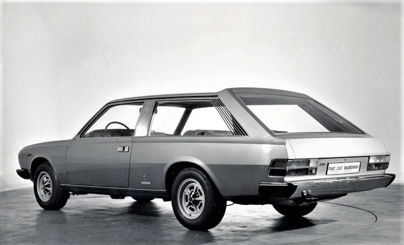 """Fiat 130 Maremma 1974 on una coda dal disegno che non credo di essere solo io a ritenere """"particolare ed indovinato""""."""