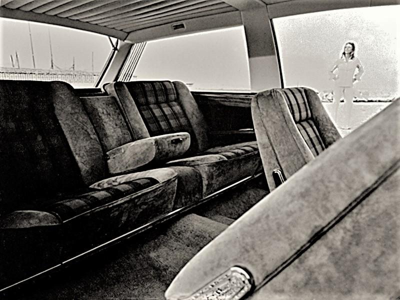 Fiat 130 Maremma 1974 I sedili posteriori, comodissimi per due persone e completamente abbattibili.