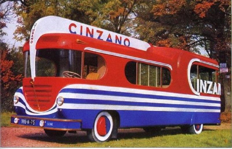 Mobilbar, Questo venne utilizzato per promuovere la ditta Cinzano durante i Tour di Francia degli anni 50 e 60.