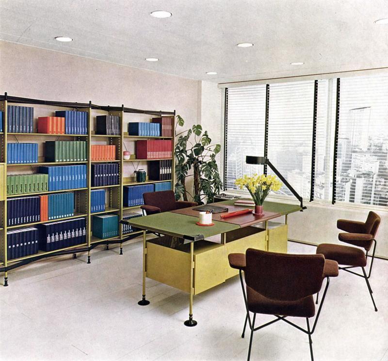 """Anni 50 e il design italiano, La Serie Spazio di Olivetti, disegnata nel 1960 dagli architetti Barbiano di Belgiojoso, Peressutti e Rogers (il """"gruppo BBPR"""")."""