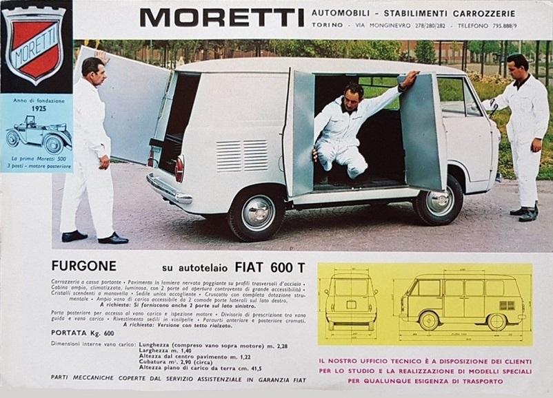 Fiat 600 T, Molto ben fatta e dettagliata questa brochure della Carrozzeria Moretti.