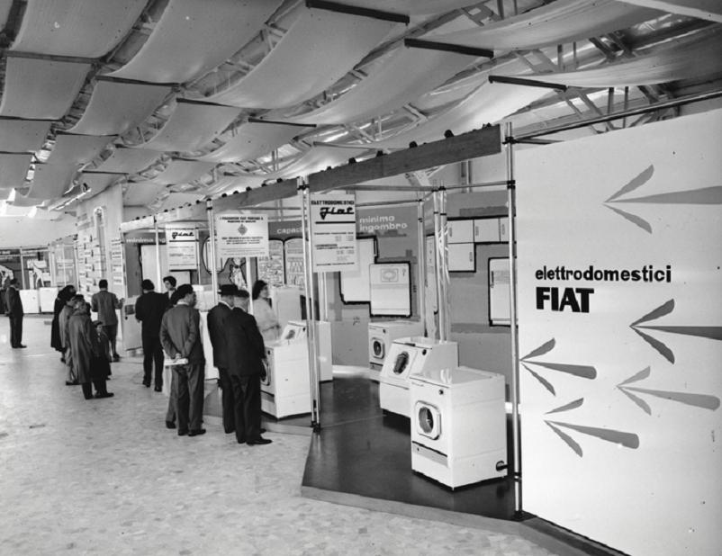 Anni 50 e il design italiano, Elettrodomestici Fiat alla Fiera Campionaria - Milano 1958.