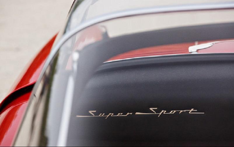 Alfa Romeo 6C 3000 CM Pininfarina Superflow IV, La scritta Super Sport, quella che era anche il soprannome della versione definitiva.