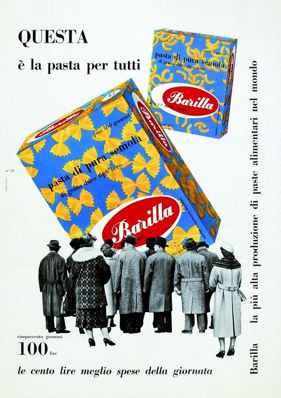 Anni 50 e il design italiano, Erberto Carboni packing Barilla.