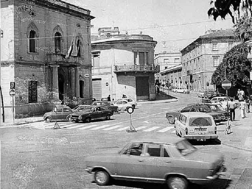 Foto in bianco e nero Olbia negli anni '70.