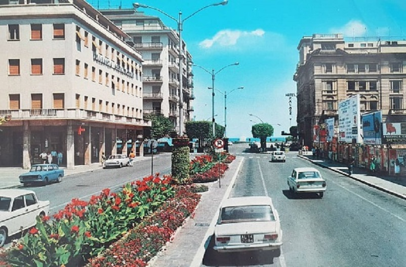 Foto in bianco e nero Pescara anni '70.