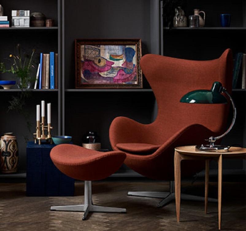 Anni 50 e il design italiano, Poltrona Egg- Arne Jacobsen 1958.
