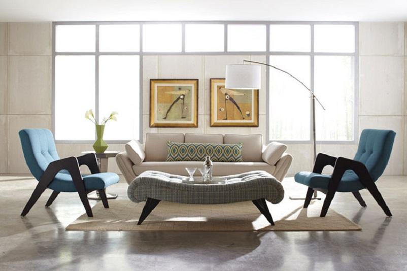 Anni 50 e il design italiano, Salotto Vintage Anni 50.