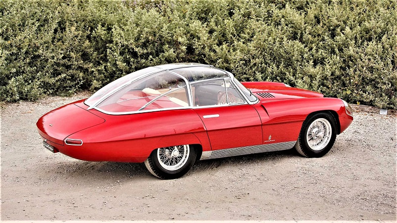 Alfa Romeo 6C 3000 CM Pininfarina Superflow IV, Veramente splendido il telaio in acciaio cromato che sorregge la struttura in plexiglass del tetto.