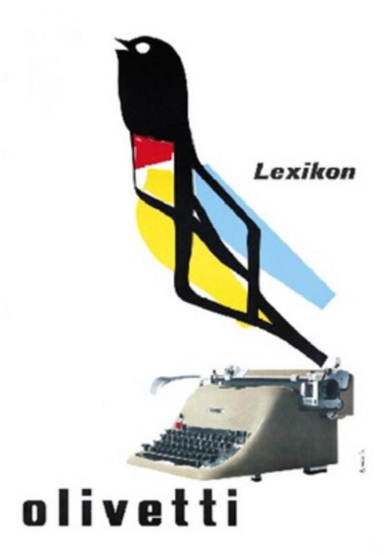 Anni 50 e il design italiano, La Olivetti fu fra le principali aziende a credere sin da subito sulla pubblicità, coinvolgendo artisti e designer di assoluto livello.