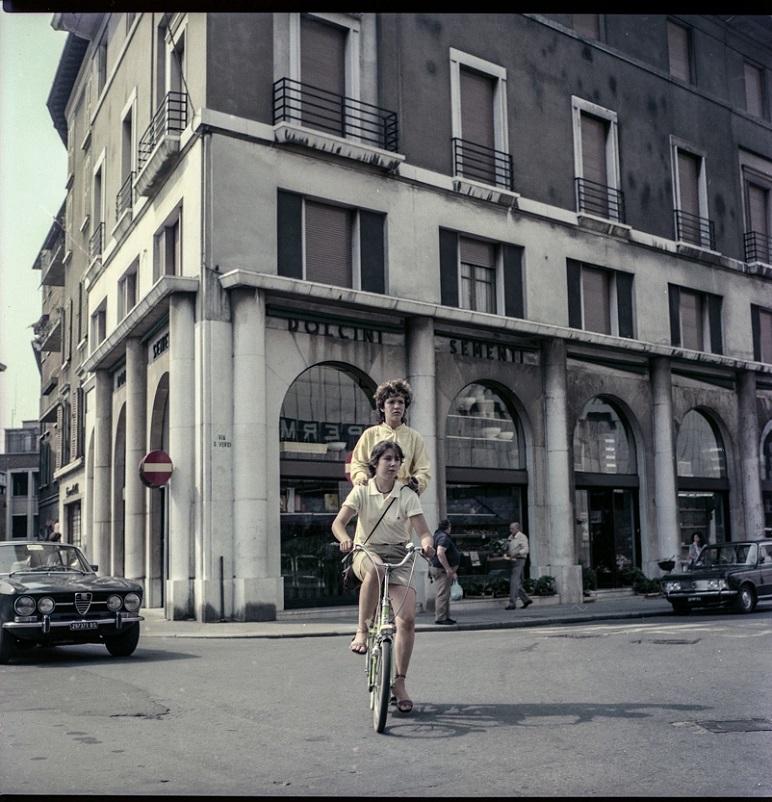 Foto in bianco e nero La mia Brescia in una foto anni '80.