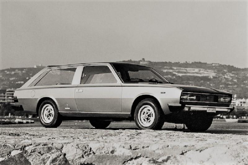 Fiat 130 Maremma 1974, Il frontale era lo stesso della Fiat 130 coupé già in produzione.
