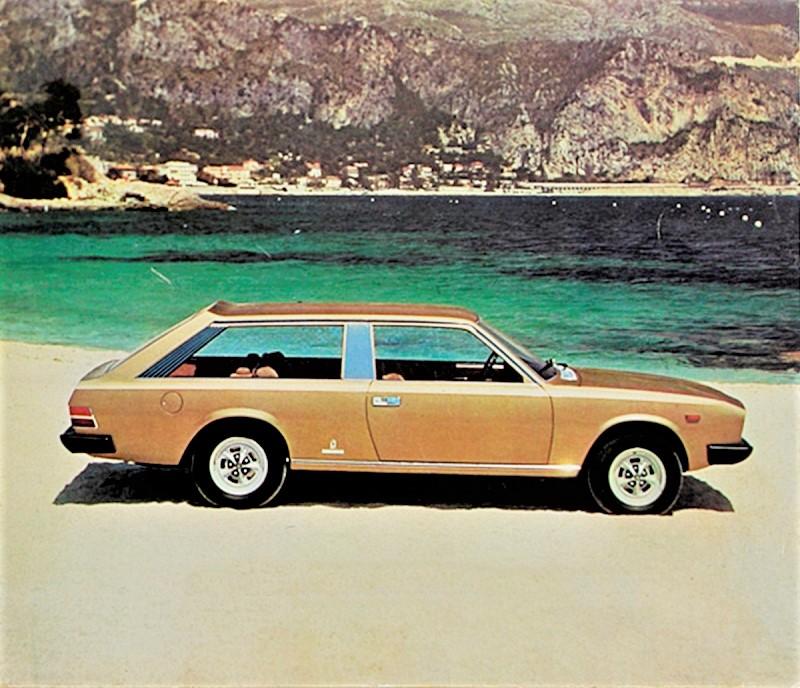 Fiat 130 Maremma 1974 La Fiat 130 Maremma 1974 vista di lato e sempre da Quattroruote del periodo.