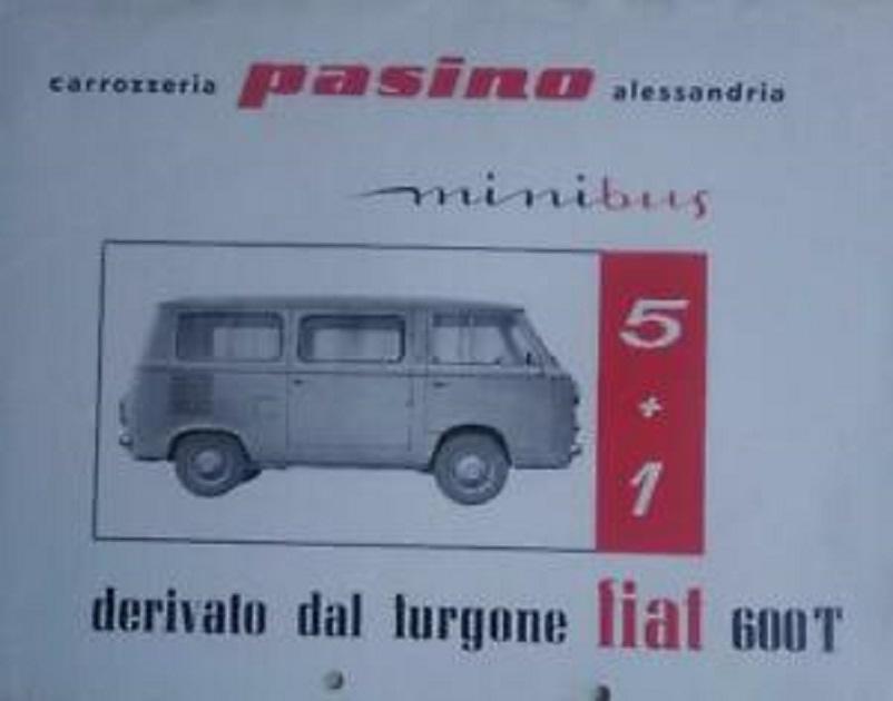 Fiat 600 T , La brochure della Carrozzeria Pasino per il suo minibus.