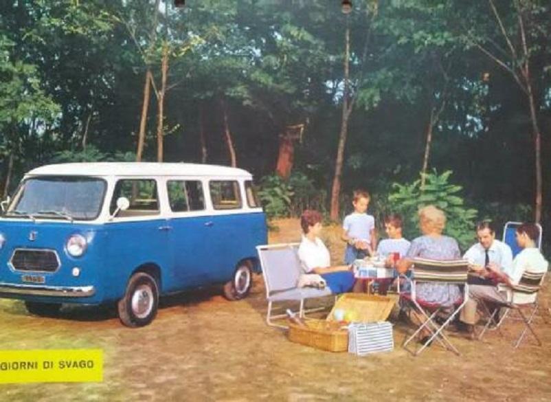 Fiat 600 T, In copertina una delle foto prese da una brochure.