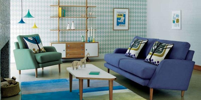 Anni 50 e il design italiano, Salotto stile anni 50.