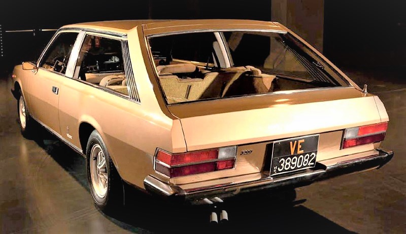 Fiat 130 Maremma 1974 In evidenza il posteriore del prototipo di Pininfarina.