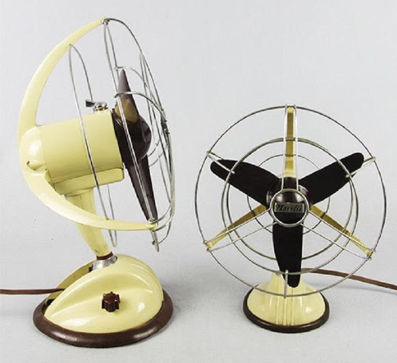 Anni 50 e il design italiano, Ventilatore da tavolo e scrivania Marelli - design industriale anni 50.
