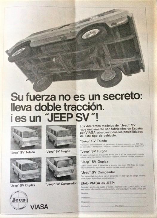 """Kaiser Crown concept Jeep Wide Track, Tutta la campagna pubblicitaria del SV voleva che si sapesse da che altro mezzo derivava, facendo """"supporre"""" che fosse prodotto negli USA."""