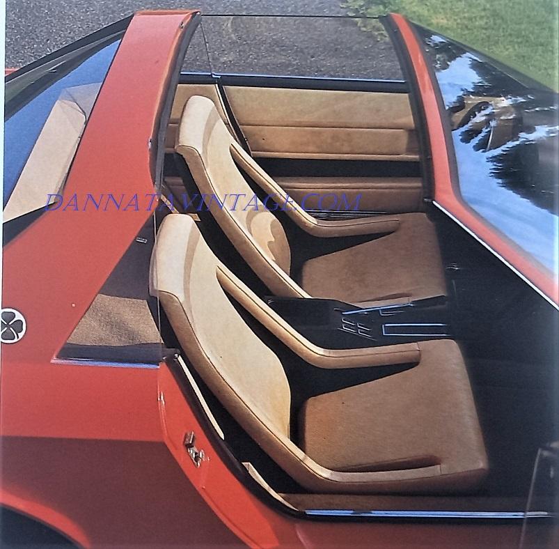 Alfa Romeo Alfetta Spider, Veramente belli questi sedili, pensati cinquant'anni fa oramai.