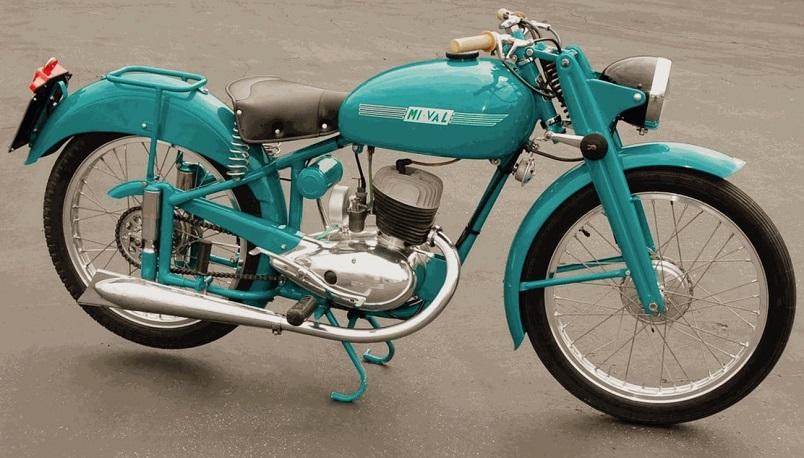 """Mi-Val 125 T2, il """"clone"""" della DKW nel 1952, pur montando un motore prodotto e sviluppato dai tecnici bresciani.."""