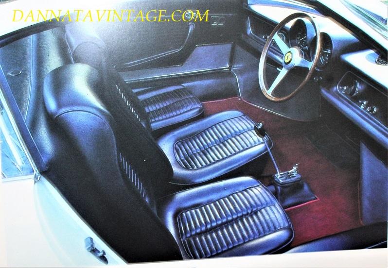 Ferrari 365 P, Gli interni del primo esemplare in pelle, salirci e scenderci quando c'erano anche i passeggeri non doveva essere molto veloce e pratico.
