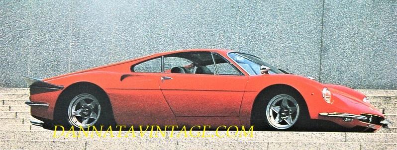 Ferrari 365 P, Come si vede da questa foto lo spoiler usciva parecchio dalla coda, aveva dimensioni importanti diremmo.