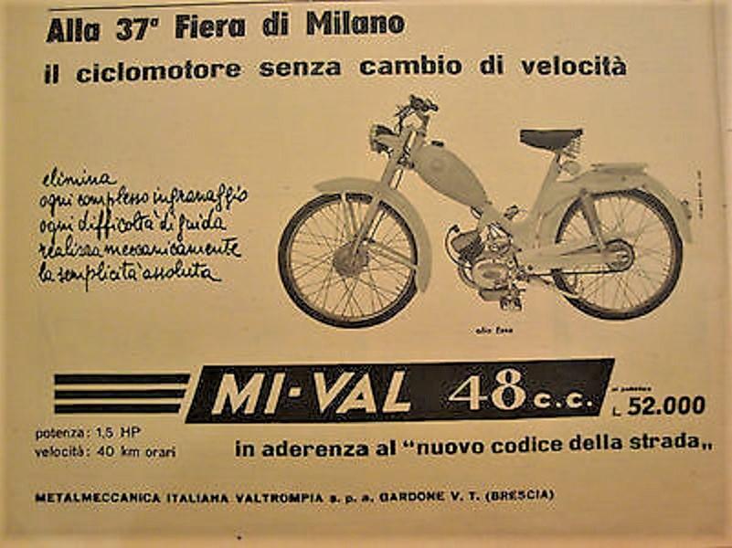 Mi-Val con il 48 cc presentato alla Fiera di Milano nella sua 37° edizione.