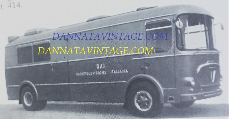 Carrozzeria SCALL, 1962 automezzo speciale RAI per le riprese cinematografiche, con monoscocca SCALL e gruppi meccanici Fiat 306-3.