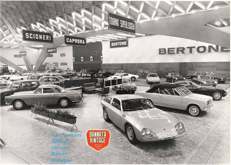 Ing. Giovanni Bianchi Anderloni Carrozzeria Touring Stand Touring Salone di Torino 1966.