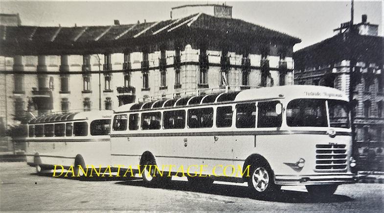 Carrozzeria BORSANI, Autobus OM Orione, con rimorchio - 1948, io fatico a ricordare altri pullman con un rimorchio e specie di quella tipologia e dimensioni.