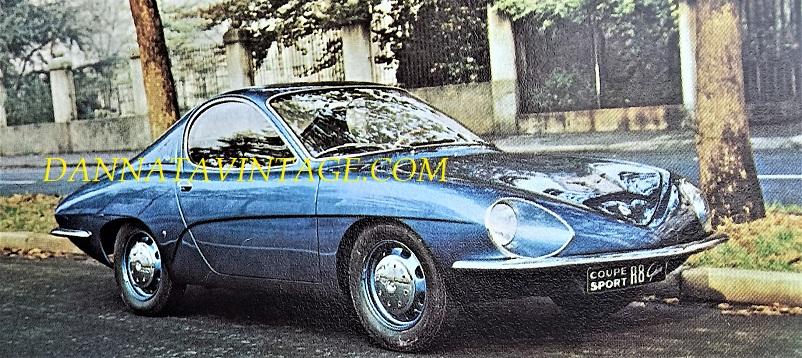 Carrozzeria Ghia, 1964 Renault R8 Coupè a due posti, anche questa come quella sopra rimasta esemplare unico.