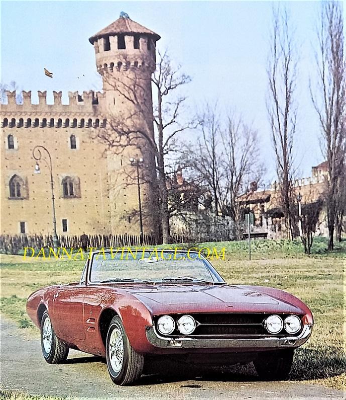 Carrozzeria Ghia, 450 SS, solo qualche decina gli esemplari costruiti, condivideva la meccanica della Plymouth Barracuda e dotata di un telaio tubolare - 1965.