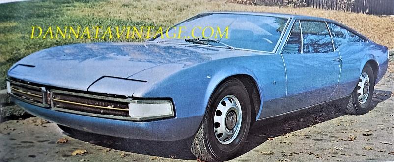 """Carrozzeria Ghia, Thor, una vettura coupè dalle dimensioni piuttosto """"""""generose"""""""", un prototipo 2 + 2 sul telaio della Oldsmobile Toronado a trazione anteriore."""