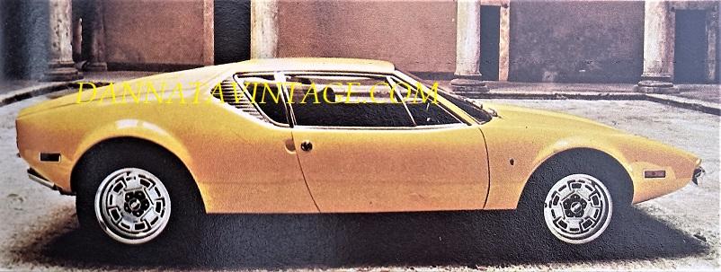 Carrozzeria Ghia, De Tomaso Pantera, dotata di un motore di provenienza Ford di 5763 Cc 8V.