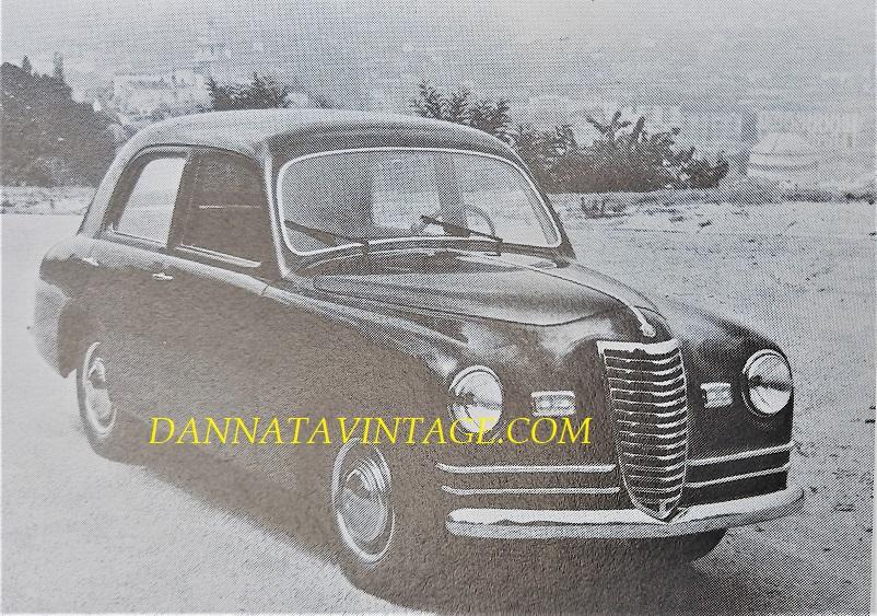 Fiat 1100 Berlina, una delle primissime realizzazioni della Carrozzeria Frua realizzata e poi venduta in un discreto numero di esemplari.