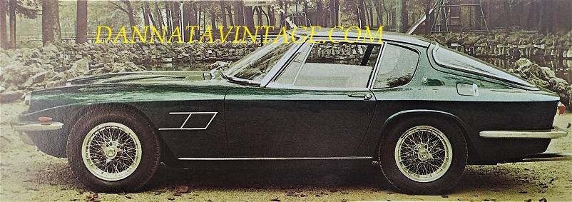 Carrozzeria Frua Maserati Mistral del 1963 e prodotta sino al 1970.