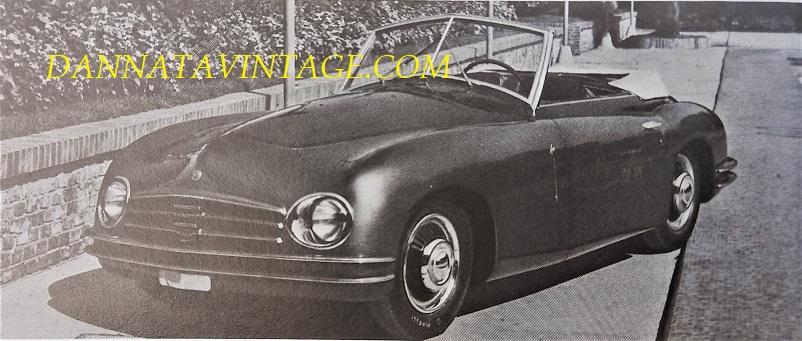 Carrozzeria Frua Sempre su telaio Fiat 1100 questa cabriolet.