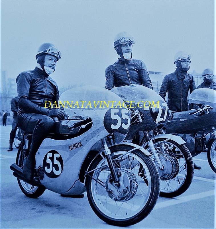 Il Circuito di Riccione, Luigi Taveri e Derek Woodman nel 1967.