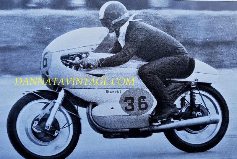 Il Circuito di Riccione, Remo Venturi nel 1964 alla guida di una Bianchi 500 Cc.