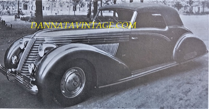 Carrozzeria Ghia, Fu vista per la prima volta al Salone dell'Automobile di Milano questa Lancia Aprilia Cabriolet - 1937.