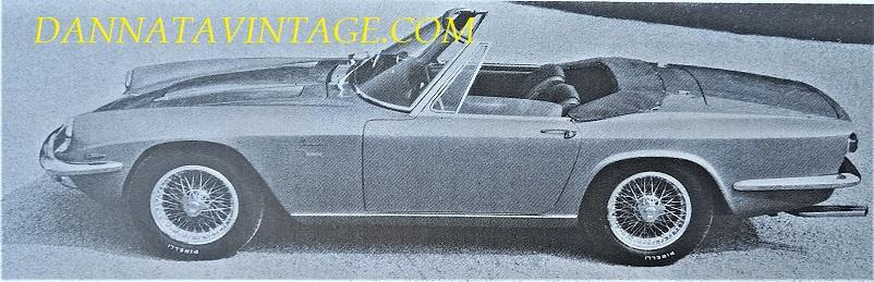 Carrozzeria Frua Maserati Mistral Cabriolet 1964.