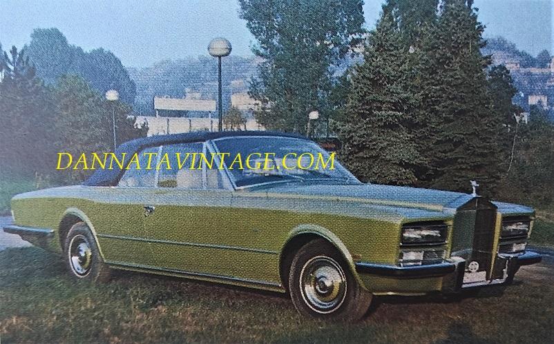 Carrozzeria Frua La Rolls Royce Phantom VI Cabriolet - 1973.
