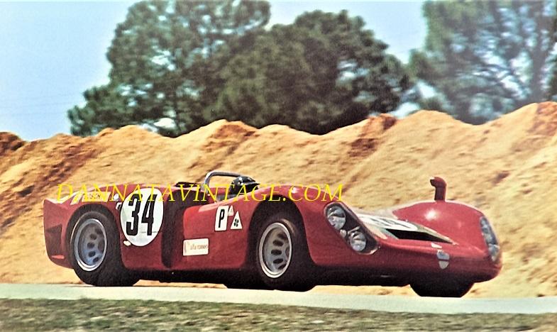 Si correva, Ed eccoci alla fine e credo non potevo concludere meglio, questa è una Alfa Romeo 33-3 che esordì alla 24 Ore di Sebring del 1969 ma non con gli esiti sperati, gli stessi furono raggiunti solo dopo che venne messa a punto e con Andrea De Adamich la otto cilindri a V di 3.000 Cc vinse l'inaugurale GP di Zeltweg.